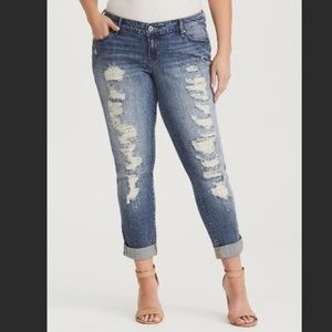 Torrid Ultra Distressed Boyfriend Cuffed Jeans 20